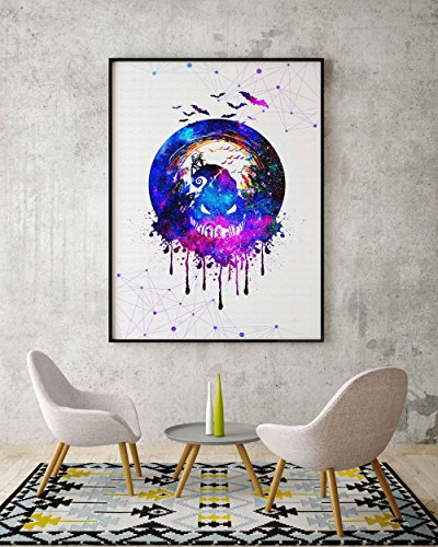 Uhomate Jack and Sally Nightmare Before Christmas Home Canvas Prints Wall Art Inspirational Quotes Wall Decor Living… 3
