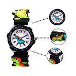 Vinmori Kid's Watch,3D Cartoon Pattern Silicone Band Waterproof Quartz Watch Gift for Children Boys Girls 18