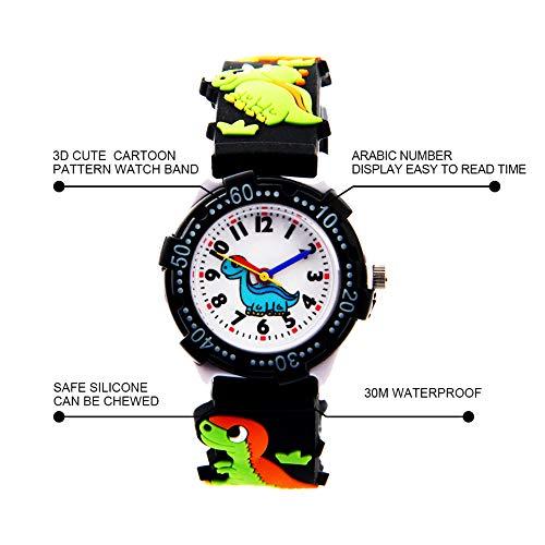 Vinmori Kid's Watch,3D Cartoon Pattern Silicone Band Waterproof Quartz Watch Gift for Children Boys Girls 5