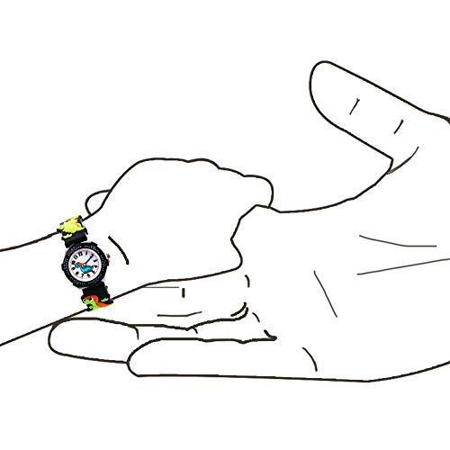Vinmori Kid's Watch,3D Cartoon Pattern Silicone Band Waterproof Quartz Watch Gift for Children Boys Girls 6