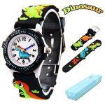 Vinmori Kid's Watch,3D Cartoon Pattern Silicone Band Waterproof Quartz Watch Gift for Children Boys Girls 22