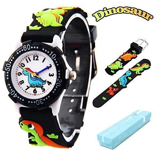 Vinmori Kid's Watch,3D Cartoon Pattern Silicone Band Waterproof Quartz Watch Gift for Children Boys Girls 7