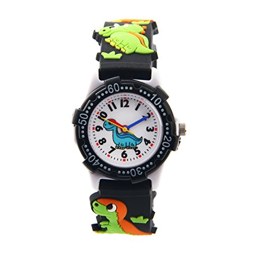 Vinmori Kid's Watch,3D Cartoon Pattern Silicone Band Waterproof Quartz Watch Gift for Children Boys Girls 1
