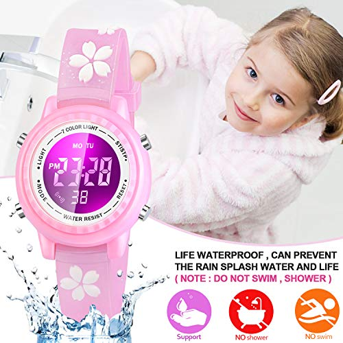 Viposoon Gifts for 3 4 5 6 7 8 9 Year Old Girls, 3D Kids Waterproof Watch Toy for 4-8 Year Old Girls Birthday Gifts for… 4