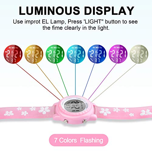Viposoon Gifts for 3 4 5 6 7 8 9 Year Old Girls, 3D Kids Waterproof Watch Toy for 4-8 Year Old Girls Birthday Gifts for… 5