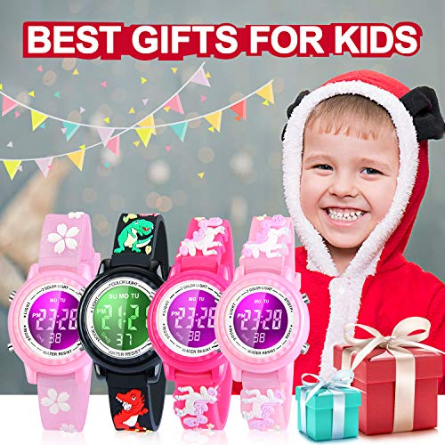 Viposoon Gifts for 3 4 5 6 7 8 9 Year Old Girls, 3D Kids Waterproof Watch Toy for 4-8 Year Old Girls Birthday Gifts for… 6