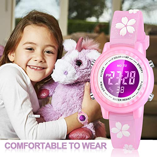 Viposoon Gifts for 3 4 5 6 7 8 9 Year Old Girls, 3D Kids Waterproof Watch Toy for 4-8 Year Old Girls Birthday Gifts for… 7