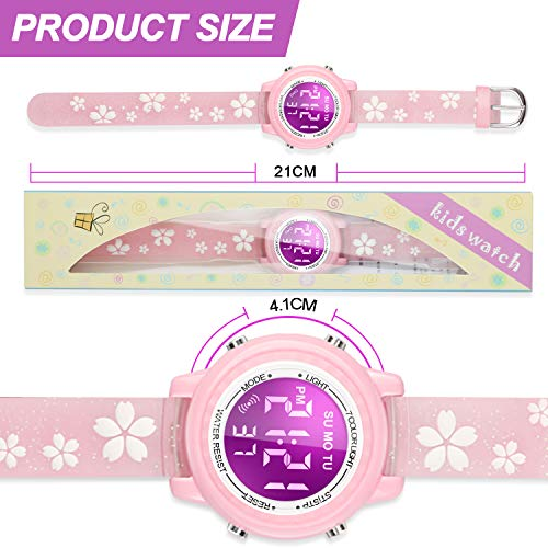 Viposoon Gifts for 3 4 5 6 7 8 9 Year Old Girls, 3D Kids Waterproof Watch Toy for 4-8 Year Old Girls Birthday Gifts for… 8