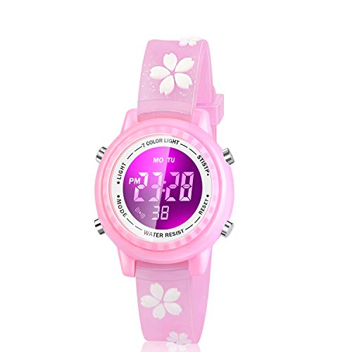 Viposoon Gifts for 3 4 5 6 7 8 9 Year Old Girls, 3D Kids Waterproof Watch Toy for 4-8 Year Old Girls Birthday Gifts for… 1