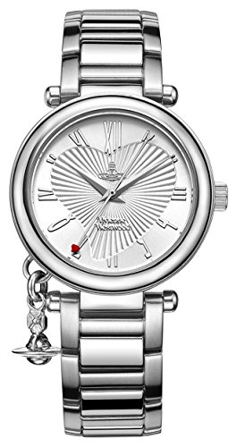Vivienne Westwood Women's Orb Quartz Watch with Silver Dial Analogue Display and Stainless Steel Bracelet 1