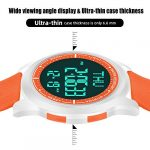 WIFORT Mens Women Digital Sports Watch Ultra-Thin and Wide Angle Vision Design, 5ATM Swimming Waterproof, Countdown Dual… 19