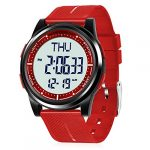 WIFORT Mens Women Digital Sports Watch Ultra-Thin and Wide Angle Vision Design, 5ATM Swimming Waterproof, Countdown Dual… 21