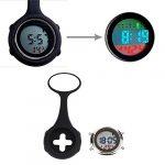 WONOLO Pin On Multi-Function Digital Silicone Fob Nurse Watch Night Lights Stopwatch for Women Men 23