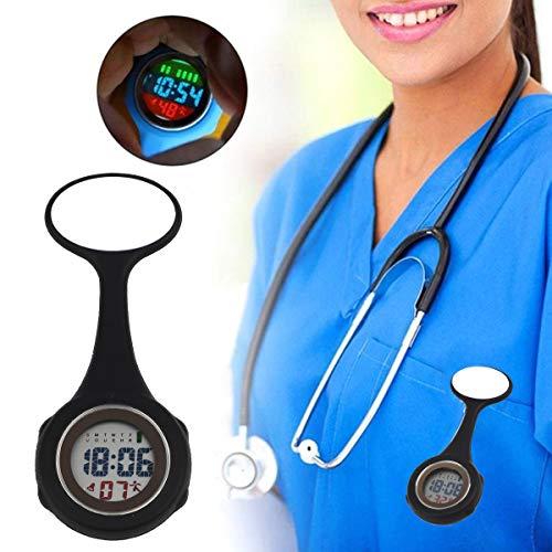 WONOLO Pin On Multi-Function Digital Silicone Fob Nurse Watch Night Lights Stopwatch for Women Men 5
