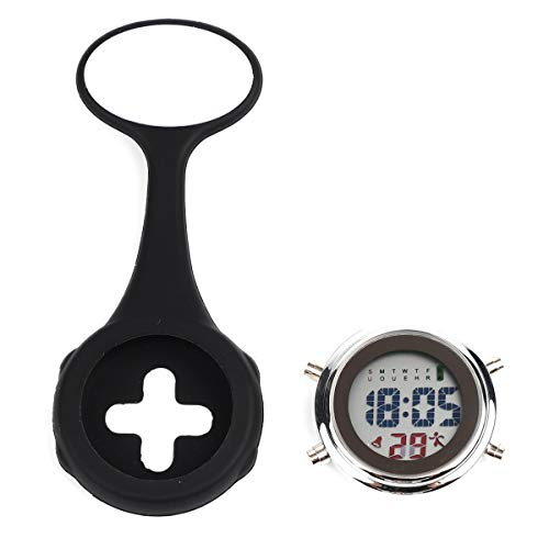WONOLO Pin On Multi-Function Digital Silicone Fob Nurse Watch Night Lights Stopwatch for Women Men 7