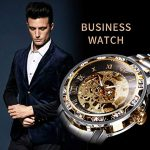 Watches, Men's Watches Mechanical Hand-Winding Skeleton Classic Fashion Stainless Steel Steampunk Dress Watch 18