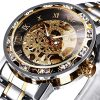 Watches, Men's Watches Mechanical Hand-Winding Skeleton Classic Fashion Stainless Steel Steampunk Dress Watch 9