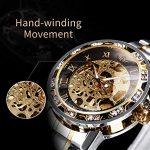 Watches, Men's Watches Mechanical Hand-Winding Skeleton Classic Fashion Stainless Steel Steampunk Dress Watch 20