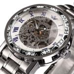 Watches, Men's Watches Mechanical Hand-Winding Skeleton Classic Fashion Stainless Steel Steampunk Dress Watch 24