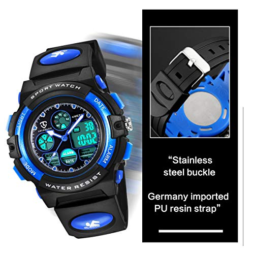 Watches,Kids Watches,Boys Teenagers Digital Outdoors Sport Watch Multifunction Waterproof Electronic Digital Watch with… 7