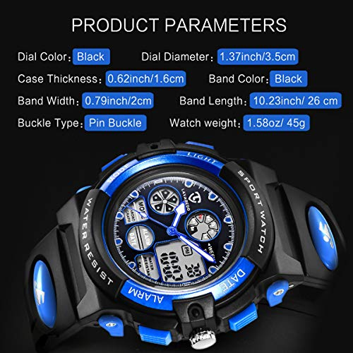 Watches,Kids Watches,Boys Teenagers Digital Outdoors Sport Watch Multifunction Waterproof Electronic Digital Watch with… 8