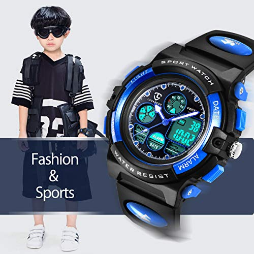 Watches,Kids Watches,Boys Teenagers Digital Outdoors Sport Watch Multifunction Waterproof Electronic Digital Watch with… 3