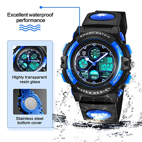 Watches,Kids Watches,Boys Teenagers Digital Outdoors Sport Watch Multifunction Waterproof Electronic Digital Watch with… 4