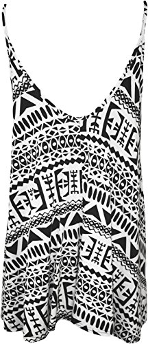 WearAll Plus Size Womens Printed Strappy Sleeveless Ladies Mini Dress Vest Top - 16-26 3
