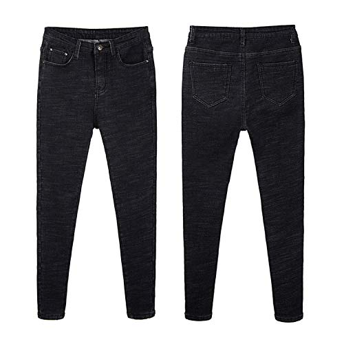 Womens Winter Fleece Lined Stretchy Jeggings High Waisted Skinny Jeans Yoga Denim Pants 4