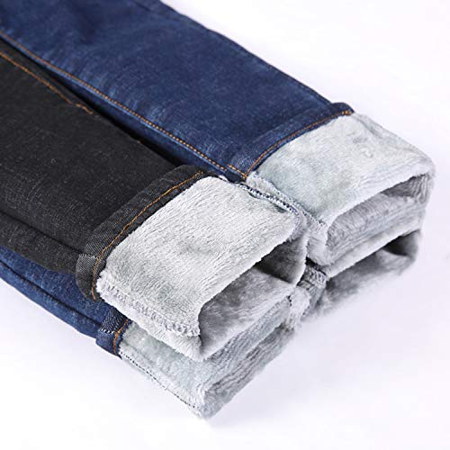 Womens Winter Fleece Lined Stretchy Jeggings High Waisted Skinny Jeans Yoga Denim Pants 5