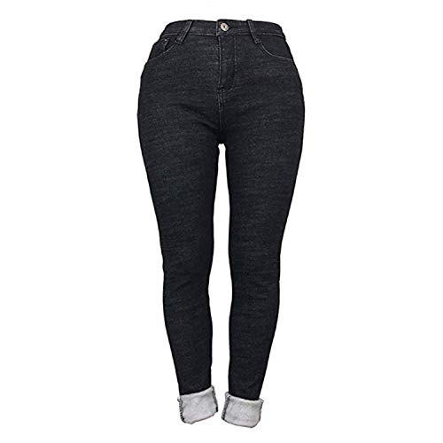Womens Winter Fleece Lined Stretchy Jeggings High Waisted Skinny Jeans Yoga Denim Pants 7