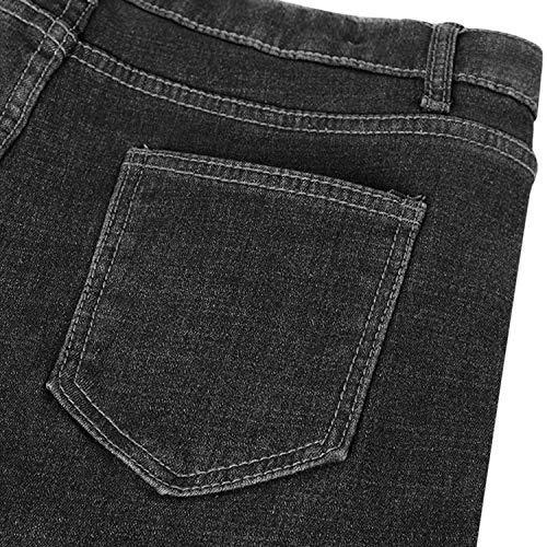 Womens Winter Fleece Lined Stretchy Jeggings High Waisted Skinny Jeans Yoga Denim Pants 9