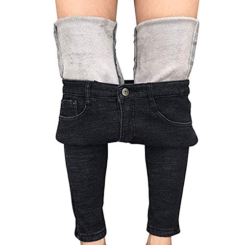 Womens Winter Fleece Lined Stretchy Jeggings High Waisted Skinny Jeans Yoga Denim Pants 1