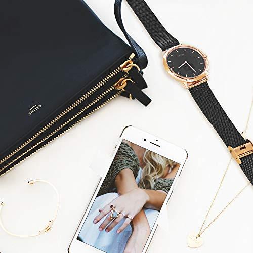 X-WATCH Hybrid Smart Watch Cleo XW Connect Women's Pedometer Wristwatch - Activity Tracker - Ladies Smartwatch Velvet… 4