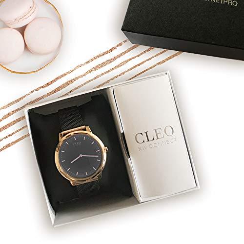 X-WATCH Hybrid Smart Watch Cleo XW Connect Women's Pedometer Wristwatch - Activity Tracker - Ladies Smartwatch Velvet… 5