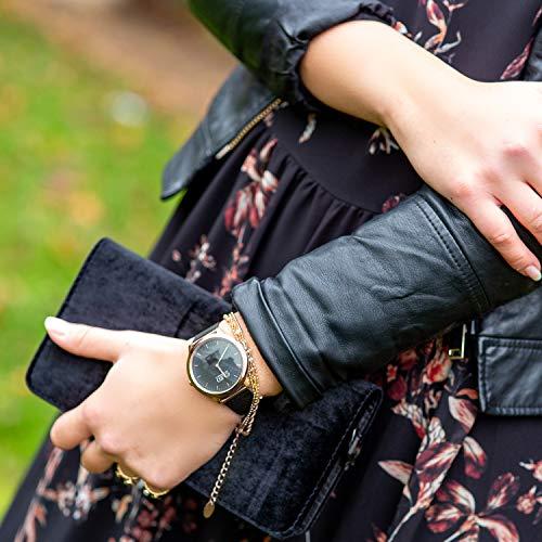 X-WATCH Hybrid Smart Watch Cleo XW Connect Women's Pedometer Wristwatch - Activity Tracker - Ladies Smartwatch Velvet… 6