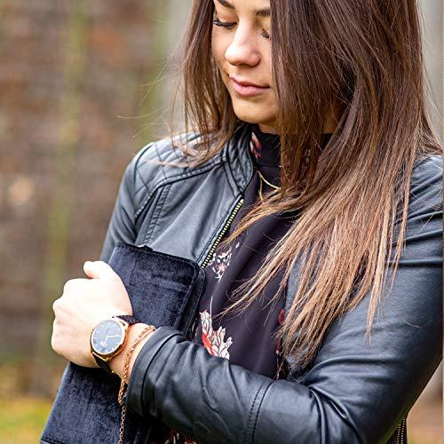 X-WATCH Hybrid Smart Watch Cleo XW Connect Women's Pedometer Wristwatch - Activity Tracker - Ladies Smartwatch Velvet… 9