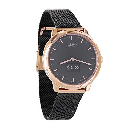 X-WATCH Hybrid Smart Watch Cleo XW Connect Women's Pedometer Wristwatch - Activity Tracker - Ladies Smartwatch Velvet… 1