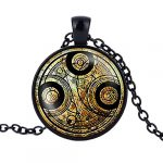 YISUYA Vintage Bronze Doctor Who Retro Dr Who Pocket Watch with Chain Mens Boys Necklace Pendant Gift Box 18