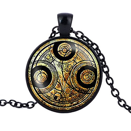 YISUYA Vintage Bronze Doctor Who Retro Dr Who Pocket Watch with Chain Mens Boys Necklace Pendant Gift Box 3