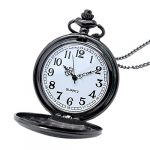YISUYA Vintage Bronze Doctor Who Retro Dr Who Pocket Watch with Chain Mens Boys Necklace Pendant Gift Box 19