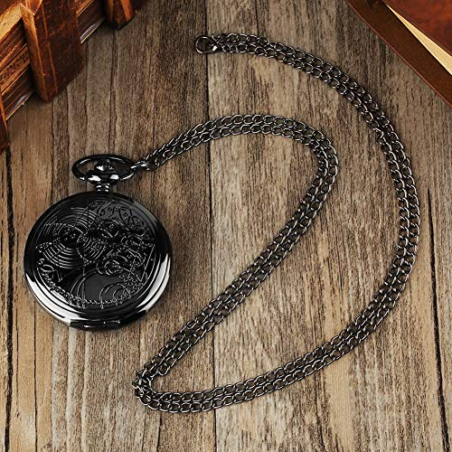 YISUYA Vintage Bronze Doctor Who Retro Dr Who Pocket Watch with Chain Mens Boys Necklace Pendant Gift Box 6