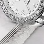 YOSIMI Woman Watch Quartz Waterproof 30M Steel Bracelet Luminous Sapphire Easy Read Roma Numbers White Dial 18