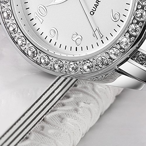YOSIMI Woman Watch Quartz Waterproof 30M Steel Bracelet Luminous Sapphire Easy Read Roma Numbers White Dial 3