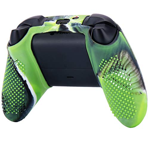 YoRHa Dots Cover Skin Case for Xbox Series X/S Controller x 1(Camouflage Green) with Thumb Grips x 10 3