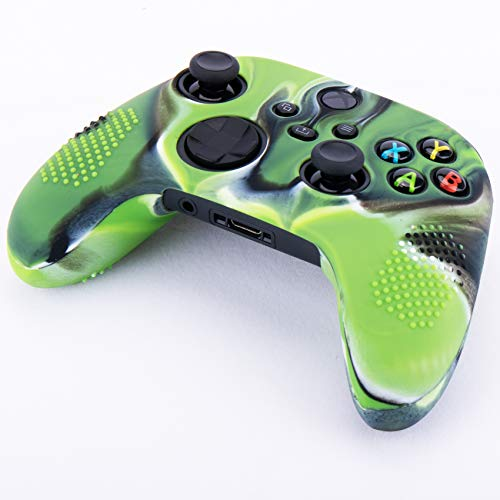 YoRHa Dots Cover Skin Case for Xbox Series X/S Controller x 1(Camouflage Green) with Thumb Grips x 10 4