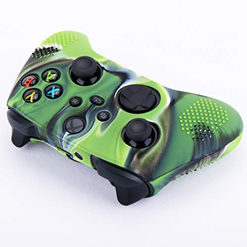 YoRHa Dots Cover Skin Case for Xbox Series X/S Controller x 1(Camouflage Green) with Thumb Grips x 10 5