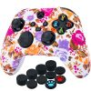 YoRHa Thickened Printing Cover Skin Case for Xbox Series X/S Controller x 1(Flowers) with Thumb Grips x 10 3