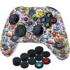 YoRHa Thickened Printing Cover Skin Case for Xbox Series X/S Controller x 1(Lovely Graffiti) with Thumb Grips x 10 3