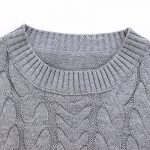ZANZEA Women Casual Cable Knit Oversized Baggy Long Pullover Knitted Plain Sweater Jumper Tops Shirt 17